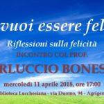Ad Agrigento riflessioni sulla felicità con il prof. Carluccio Bonesso