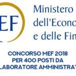Lavoro e concorsi: funzionari e collaboratori amministrativi al Miur e al Mef