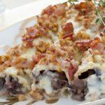 """""""Il pranzo della domenica"""" – primi piatti – cannelloni con radicchio scamorza e bacon croccante"""