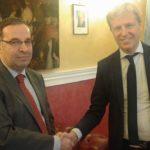 Agrigento, Firetto incontra l'ambasciatore della Repubblica Araba Siriana presso la Santa Sede