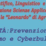 """Bullismo e Cyberbullismo: incontro al Liceo """"Leonardo"""" di Agrigento"""