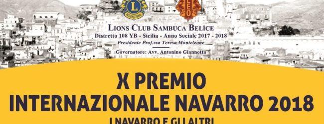 X Premio Internazionale Navarro 2018 a Sambuca di Sicilia