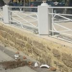 Agrigento, vandali in azione: rotto un vaso ornamentale al Viale della Vittoria