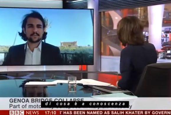 La BBC in collegamento da Agrigento
