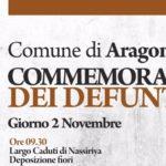Aragona: commemorazione dei defunti, ecco il programma
