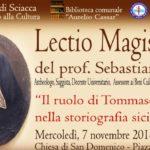 Sciacca, Lectio Magistralis dell'archeologo Tusa sullo storico Tommaso Fazello