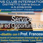 Ribera, incontro dopodomani organizzato dai Lions con il sociologo Francesco Pira  per prevenire cyberbullismo e sexting