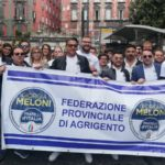 Manifestazione nazionale di FdI a Napoli, presente nutrita rappresentanza della provincia di Agrigento
