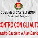 Casteltermini, incontro con gli Autori Alessandro Cacciato e Alan David Scifo