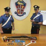 Blitz all'interno di un'abitazione a Villafranca Sicula: scovati e sequestrati un fucile a canne mozze ed alcune dosi di cocaina
