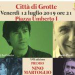 """Premio """"Nino Martoglio"""" Città di Grotte 2019: venerdì l'edizione 2019"""