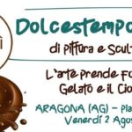 """Ad Aragona la """"Dolcestemporanea"""" di pittura e scultura, l'arte prende forma con il gelato ed il cioccolato"""