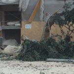 Agrigento, nuovo crollo in piazza Cavour: cede un'altra porzione del cornicione
