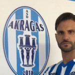 Il difensore mancino Stefano Procida è un giocatore dell'Akragas