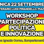 Ad Agrigento un workshop dedicato alla partecipazione politica e all'innovazione