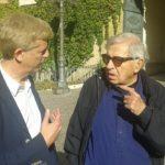 Il regista Paolo Taviani a lavoro per una produzione cinematografica imperniata su Pirandello, Girgenti  e le sue novelle