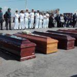 Arrivate a Porto Empedocle le salme delle vittime del naufragio di Lampedusa