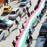 A Naro un lungo tricolore sfila per Viale Umberto I
