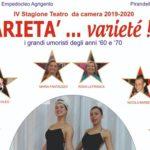 """Al Circolo Empedocleo di Agrigento il primo spettacolo della IV Rassegna del """"Teatro da Camera"""""""