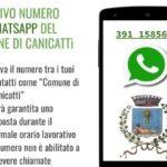 Canicattì, emergenza Coronavirus: numero di messaggistica Whatsapp per comunicazioni