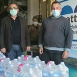 Lampedusa, emergenza Coronavirus: donati 36 pallet di casse d'acqua