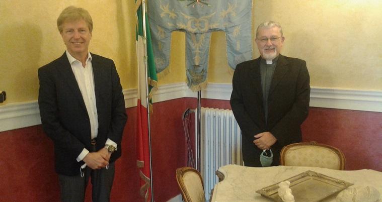 Agrigento, il Sindaco Firetto incontra l'arcivescovo coadiutore don Alessandro Damiano