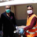 La Protezione Civile consegna generi alimentari al Comune di Licata