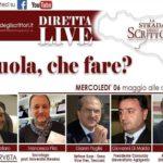 Strada degli scrittori…live, Cavallaro intervista Pira, Puglisi, Di Maida e Russo sulla scuola