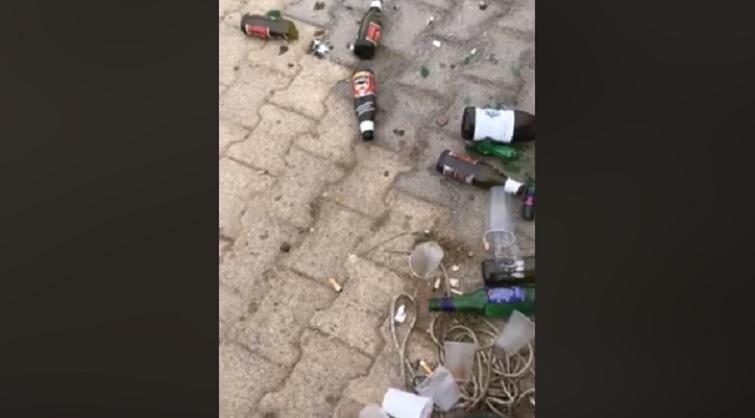 San Leone, porticciolo turistico pieno di bottiglie in vetro: gli incivili colpiscono ancora – VIDEO