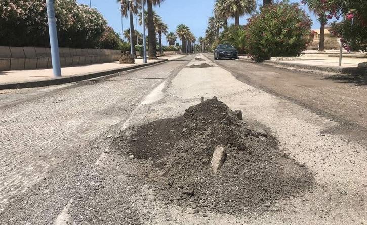 Agrigento, al via i lavori di sistemazione del manto stradale sul lungomare Falcone e Borsellino a San Leone