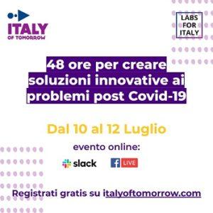 Il professor Francesco Pira a Italy of Tomorrow la kermesse nazionale per trovare soluzioni post Covid 19 per l'Italia di domani