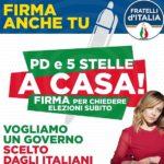 Fratelli d'Italia scende in piazza, raccolta di firme ad Agrigento e a Naro per chiedere le elezioni