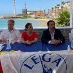 """Flash mob Lega, Tardino: """"Noi dalla parte dei cittadini. Stop agli sbarchi"""""""