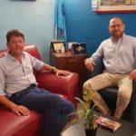 Amministrative Agrigento, Marco Zambuto ha incontrato il segretario provinciale  della Uil Gero Acquisto