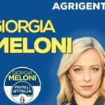 Giorgia Meloni domani ad Agrigento per le amministrative e a sostegno di Daniela Catalano