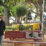 Agrigento, Fratelli d'Italia depone fiori sulla panchina rossa contro la violenza sulle donne