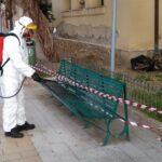 Agrigento, sanificazione della panchina al Viale della Vittoria: cittadino trovato positivo al Covid-19