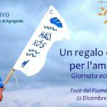 """""""Un regalo di Natale per l'ambiente"""": mattinata ecologica alla foce del fiume Platani"""
