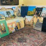 Uffici del Comune di Agrigento con quindici quadri realizzati dagli artisti dell'Accademia delle Belle Arti