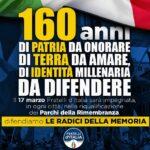 Anniversario Unità d'Italia, Fratelli d'Italia alla Villa Bonfiglio per commemorare i caduti della grande guerra
