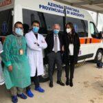 Ospedali di Agrigento e Ribera, consegnate due nuove ambulanze di biocontenimento per il trasporto dei pazienti positivi al covid