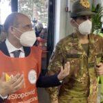 Covid, il commissario straordinario Figliuolo in visita a Messina
