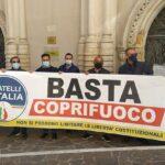 Decreto Riaperture, flash-mob di Fratelli d'Italia Agrigento per l'abolizione del coprifuoco
