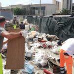 Agrigento, ripulita la discarica creata dinnanzi l'isola ecologica di piazza Ugo La Malfa