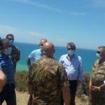 Punta Bianca: sopralluogo congiunto tra l'Esercito Italiano e il Comune di Agrigento