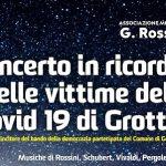 Grotte, un concerto per ricordare le vittime del Covid