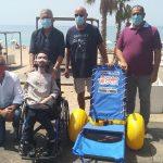 Il litorale agrigentino sempre più accessibile: sedia job all'OceanoMare