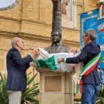 Canicattì, busto dedicato alla memoria del beato Giudice Rosario Angelo Livatino in largo Savoia
