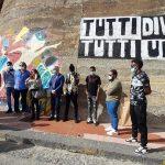 """Agrigento, torna a splendere il murales """"Tutti Diversi Tutti Uguali"""""""